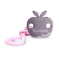 苏维妮(suavinex)安抚奶嘴挂夹 英伦粉色小公主奶嘴链 西班牙进口 粉色小苹果