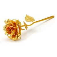 佰黛 金色箔玫瑰花 送人 摆件
