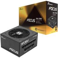 1日0点:SEASONIC 海韵 FOCUS GX-750 电脑电源 金牌(90%)750W 全模组化