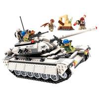 启蒙(ENLIGHTEN)儿童积木玩具兼容乐高拼装雷霆使命系列坦克飞机男孩立体拼插3206坦克兵团出击