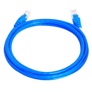 三堡(SMT) 超五类CAT5E标准联网线 百兆宽带连接线工程路由器电脑监控8芯双绞成品网络跳线 蓝色 1.5米