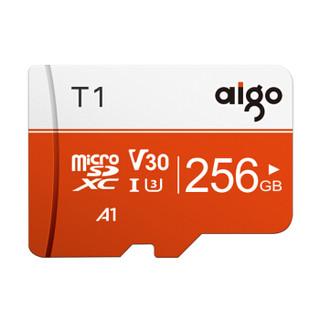 aigo 爱国者 爱国者(aigo)256GB TF(MicroSD)存储卡 U3 A1 V30 4K T1高速内存卡 读速97MB/s 适用手机行车记录仪监控