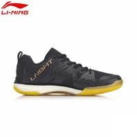 LI-NING 李宁 AYAP005-1 羽毛球鞋 (标准黑/赤金色、42)