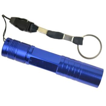 博沃尼克 铝合金防溅水5号高亮度便携式 礼盒装手电筒 蓝色