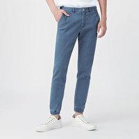 lativ 诚衣 40284011 牛仔束脚运动裤-男(水洗产品) (浅蓝、S)