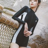 XIAOTAO 小桃 XT19074 女运动保守连体泳衣
