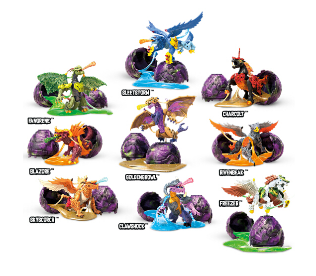 MEGA 美高  爆裂野兽拼搭收藏系列扭蛋(9款可选)