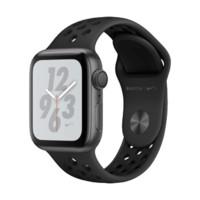 Apple Watch Series 4苹果智能手表(Nike GPS款 40毫米深空灰铝金属表壳 黑色型运动表带 MU6J2CH/A)
