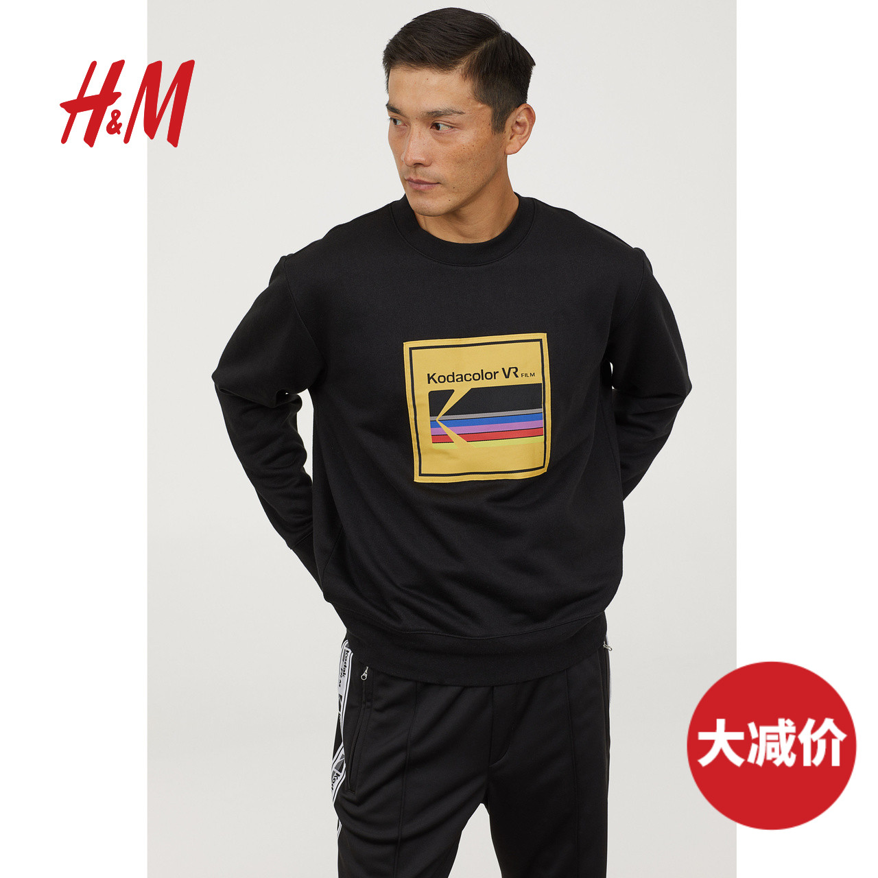 H&M Kodak 柯达合作 HM0697548 男士涤棉卫衣