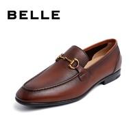 1日0点:BeLLE 百丽 6XE01BM0 牛皮革一脚蹬乐福鞋