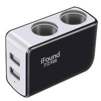 移动端:iFound 方正科技 FZ-24 车载点烟器扩充器 2孔+2USB