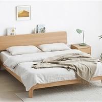 10日0点:VISAWOOD 维莎原木 w0430-1 白橡木双人床