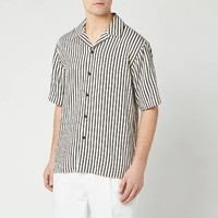 银联专享:AMI 男士小翻领 条纹衬衫