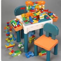 imybao 麦宝创玩  积木桌+60颗大积木+收纳盒*2增高脚*4