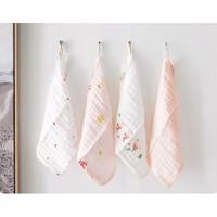 Purcotton 全棉时代 婴儿纱布口水巾 3条装