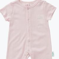 京东PLUS会员:Purcotton 全棉时代  婴儿针织网孔短袖连体服 1件装