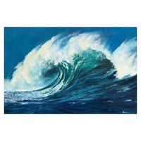 艺术品:职业艺术家 纪钧译 作品 原创手绘《海浪》布面油画 40x60cm(画芯)