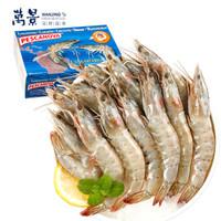 京东PLUS会员:万景 原装进口南美白虾 80-100只 净重2KG  *2件