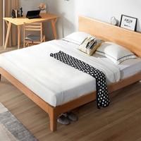 21日0点、双11预售:KUKa 顾家家居 PTDK501 北欧简约实木床 1.2m床