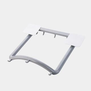 FOOJO【2个装】脸盆架免打孔挂墙可折叠壁挂式卫生间厨房收纳置物面盆架(灰+白)