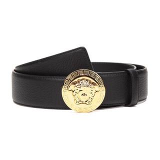 VERSACE 范思哲 范思哲 VERSACE 经典款男士黑色皮革美杜莎头像板扣腰带DCU4806 DGOV2 D41OH 95码