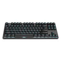 Hyeku 黑峡谷 GK707 机械键盘 87键 蓝色背光 凯华BOX轴 黑色 红轴