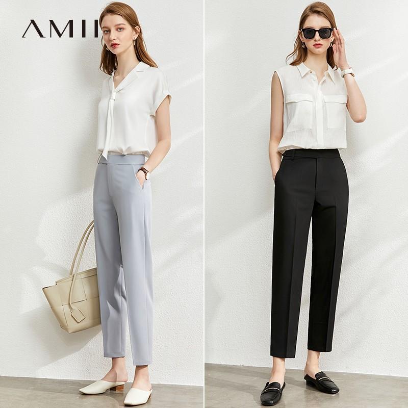 Amii KL-1202TM0149 百搭显瘦烟管九分西裤