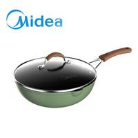 美的(Midea)Micca元气系列不粘炒锅家用炒锅电磁炉煤气灶适用炒菜锅平底锅煎锅28wok309 元气淡绿 *2件+凑单品