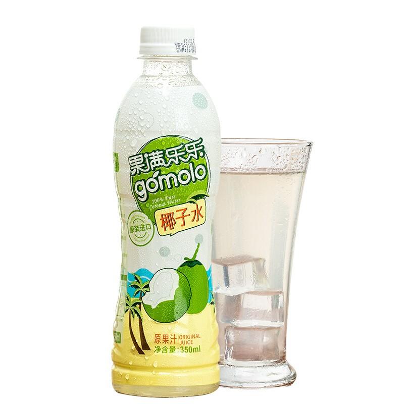 gomolo 果满乐乐 椰子水100% 新鲜椰汁  350ml*24瓶