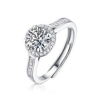 圣蒙娜 4705 女式莫桑钻戒指