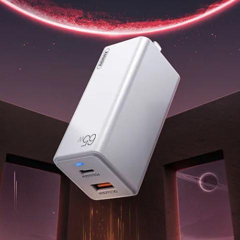 REMAX 睿量 Type-C+USB GaN氮化镓 充电器 65W