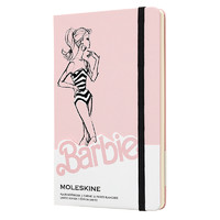 MOLESKINE 魔力斯奇那限量款 芭比条纹泳装硬面纯白笔记本 A6/240页