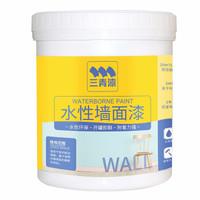 历史低价:三青 内墙水性墙面乳胶漆 白色(带滚筒) 1.1KG