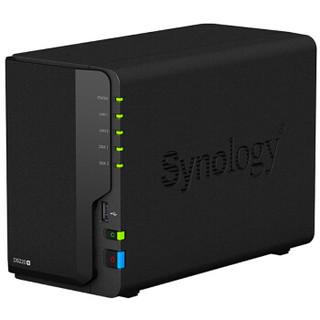 Synology 群晖 DS220+ 双盘位NAS网络存储服务器 黑色