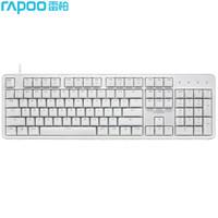 Rapoo 雷柏 MT710  机械键盘 办公 104键 白色 红轴