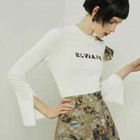 Lily 118330B8331 女士镂空收腰针织衫