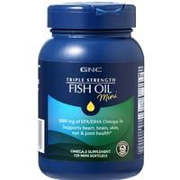 京东PLUS会员:GNC 健安喜 三倍深海进口鱼油欧米伽 DHA迷你软胶囊 120粒*2件