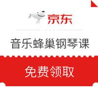 京东PLUS会员、移动端:京东 音乐蜂巢 儿童在线1对1钢琴课