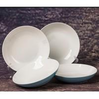 京东PLUS会员:句途  新骨瓷日式碗盘套装 蓝色梦想 7英寸盘 4个装