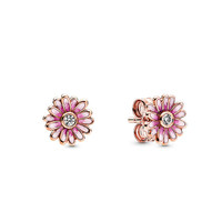 Pandora 潘多拉 288773C01 玫瑰金色粉色雏菊耳钉