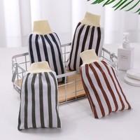 感角  条纹束口搓澡巾 3个装