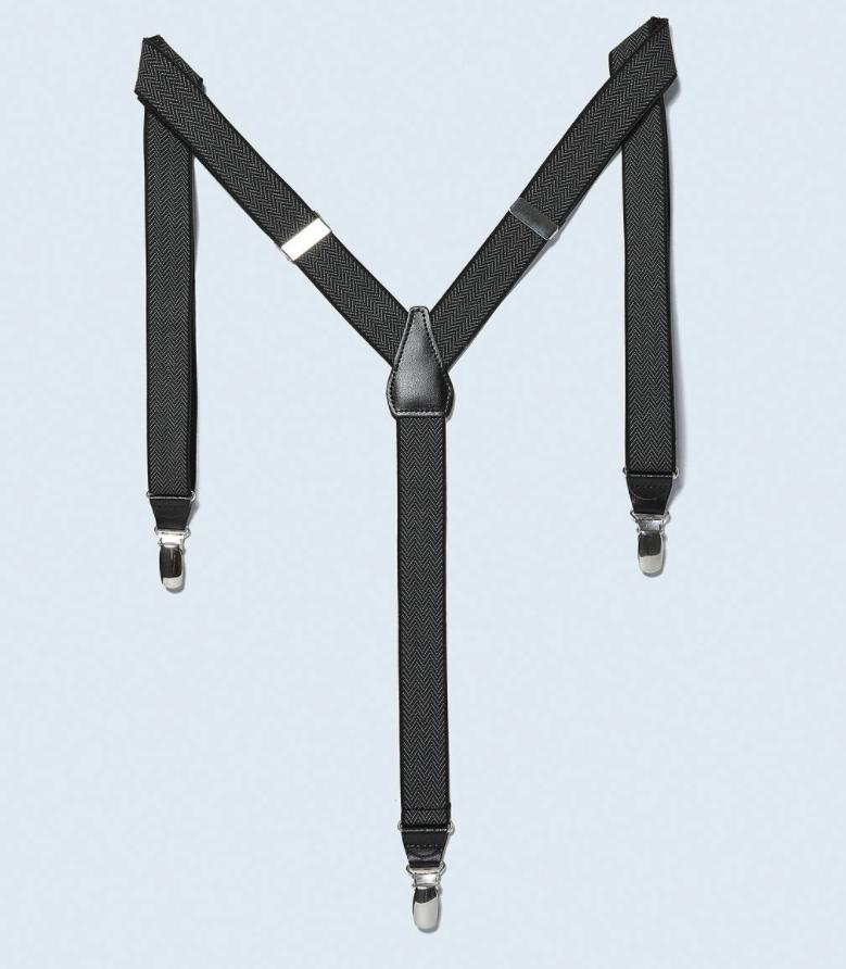ZARA 06907401800 男士人字斜纹纹理吊带