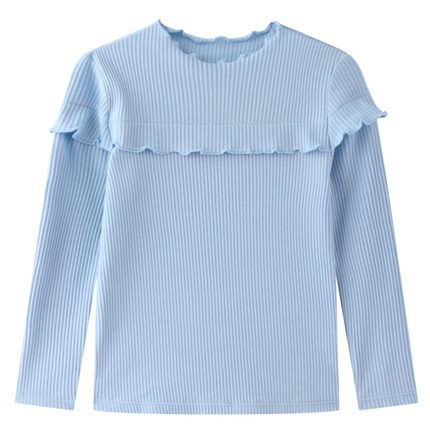 Annil 安奈儿 女童T恤中领长袖