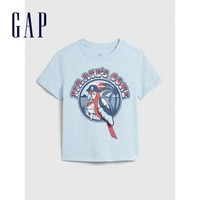 Gap 盖璞 男童纯棉印花短袖T恤