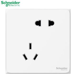 Schneider 施耐德 二三级插座 白色错位五孔 皓呈系列