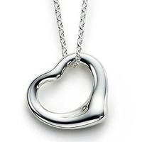 Tiffany&Co. 蒂芙尼 10660092 Elsa Peretti Open Heart 纯银心形吊坠