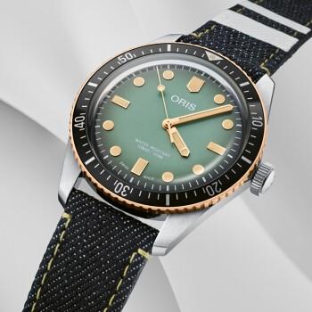 ORIS 豪利时 桃太郎联名 73377074337TS 潜水系列男士机械表