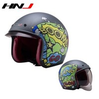 HNJ 哈雷复古 摩托车头盔