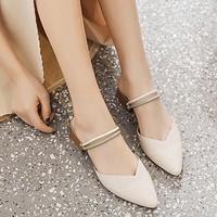 卓诗尼 X23010311 女士粗跟凉鞋 *2双