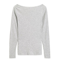 Gap 盖璞 496133 女装简约纯色圆领长袖T恤